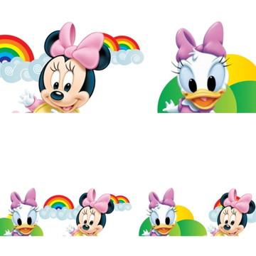 Adesivo border infantil Baby Disney Margarida Minnie Mod013