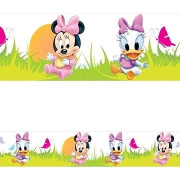 Adesivo border infantil Baby Disney Margarida Minnie Mod014