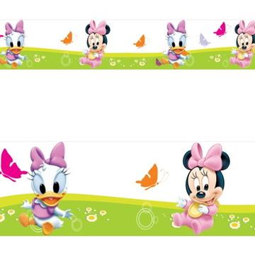 Adesivo border infantil Baby Disney Margarida Minnie Mod017
