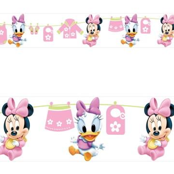 Adesivo border infantil Baby Disney Margarida Minnie Mod018