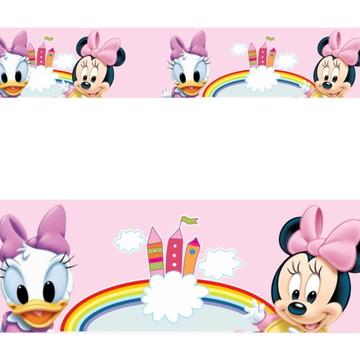 Adesivo border infantil Baby Disney Margarida Minnie Mod021