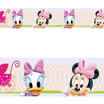 Adesivo border infantil Baby Disney Margarida Minnie Mod022