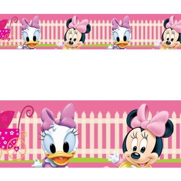 Adesivo border infantil Baby Disney Margarida Minnie Mod023