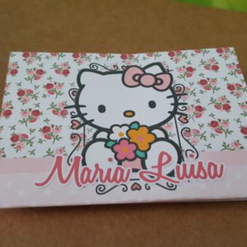 Convite Hello Kitty Floral