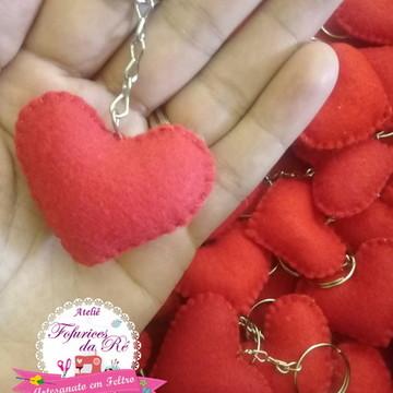 Chaveiro de Coração em Feltro