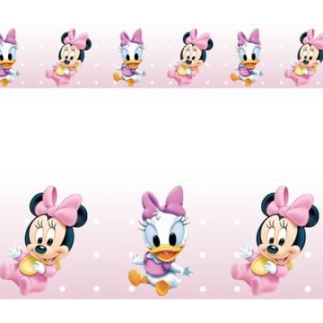 Adesivo border infantil Baby Disney Margarida Minnie Mod024