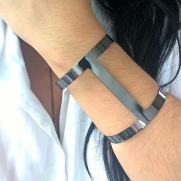 Bracelete Feminino em Ródio Negro/ Preto