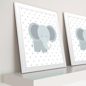 Decoração de quarto de bebê - Quadro de elefante (Promoção)