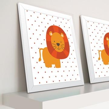 Decoração de quarto de bebê - Quadro de Leão