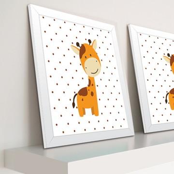 Decoração de quarto de bebê - Quadro de Girafa