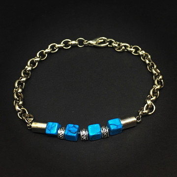 Silver Bracelet with Turquoise Stone