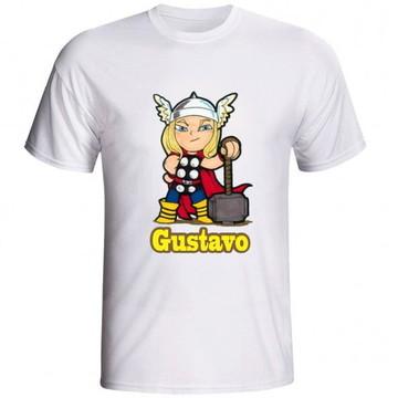 camiseta camisa herois kids diversos com nome personalizado