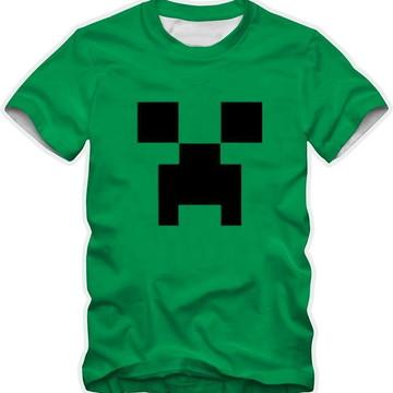 camiseta verde infantil ou adulto Creeper com nome personali