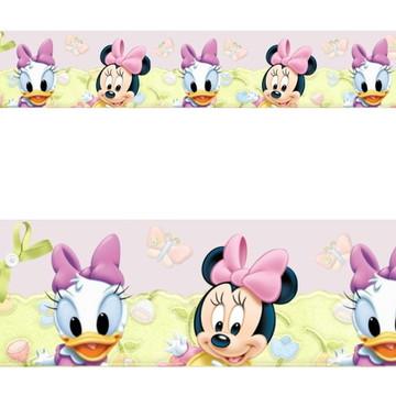 Adesivo border infantil Baby Disney Margarida Minnie Mod044