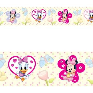 Adesivo border infantil Baby Disney Margarida Minnie Mod046