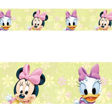 Adesivo border infantil Baby Disney Margarida Minnie Mod048