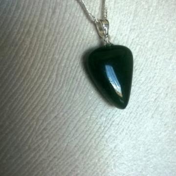 colar corrente prata 925 pedra quartzo