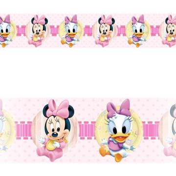 Adesivo faixa border infantil Disney Minnie Margarida Mod050