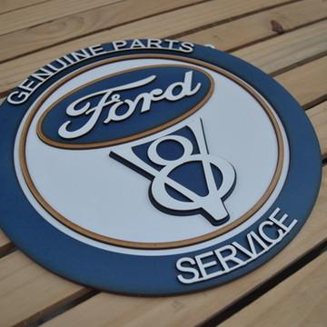 Placa Em Alto Relevo Ford em MDF