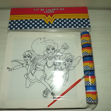 Kit Tela de Pintura Heroina com Lapela