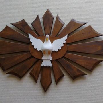 Religiosos Divino Espírito Santo Madeira com resplendor