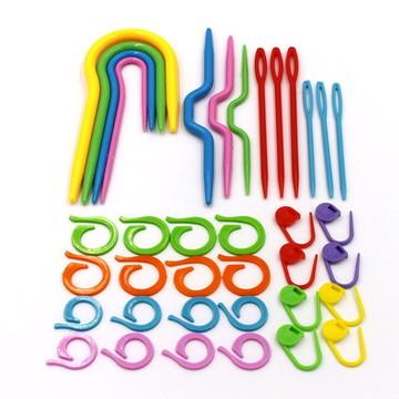 Kit de agulhas auxiliares para tricô e crochê