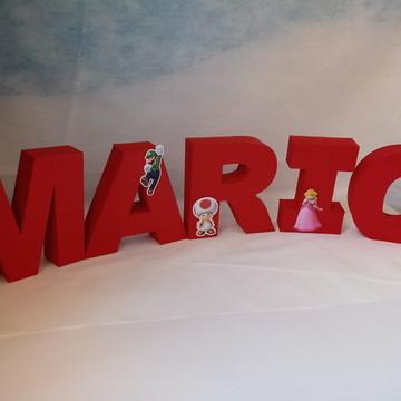 Letras 3D mario bross