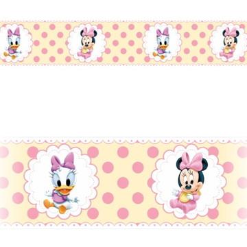 Adesivo faixa border infantil Disney Minnie Margarida Mod056