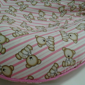 Ninho para bebê c/detalhe rosa