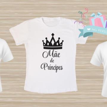 kit de camiseta mãe de príncipes
