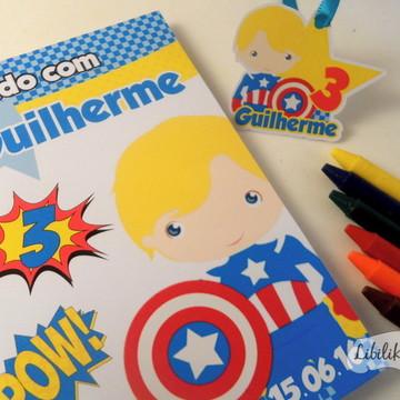 Lembrancinha Capitão America Caderninho