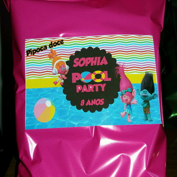 Pipoca doce pool party Trolls
