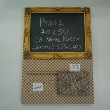 Painel p/ Caixa de Luz:Espelho/Lousa/Cartas/Chaves