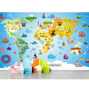 Adesivo Mapa Mundi infantil m01