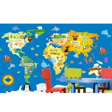 Adesivo Mapa Mundi infantil m02