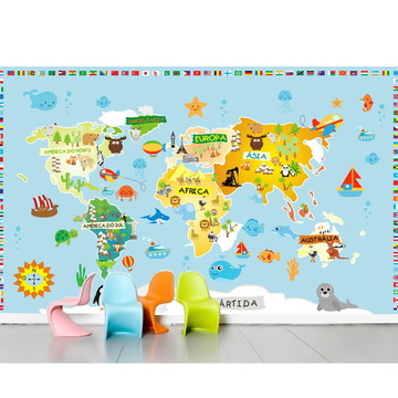 Adesivo Mapa Mundi infantil m03