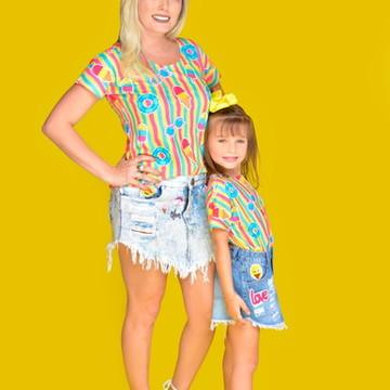 Blusas Tal mãe Tal filha Verão