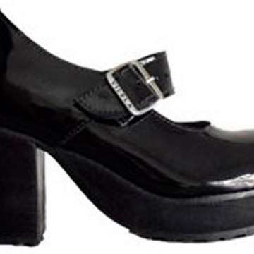 Sapato Boneca Salto Alto Envernizado Colorido Couro Ref172