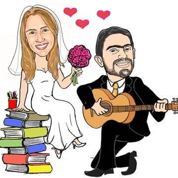 Caricatura Noivos/Casamento