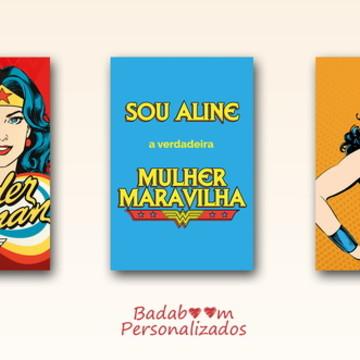 Kit Poster de Festa Mulher Maravilha