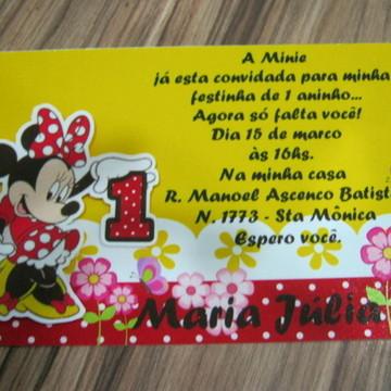 Convite Minnie.