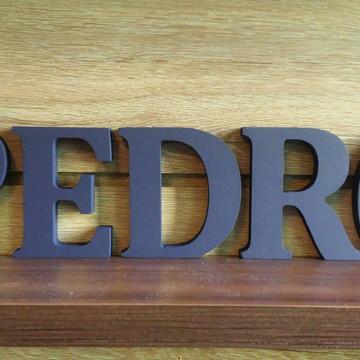 Letras Decorativas Nome em MDF PEDRO em letra caixa