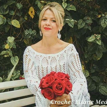 Vestido de crochê noiva
