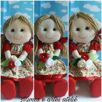 Trio bonecas para decoração