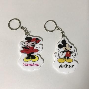 Chaveiro Mickey/ Minnie impresso