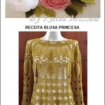 Receita Blusa Princesa DIGITAL