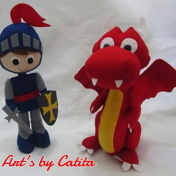 Kit Cavaleiro Medieval e o dragão