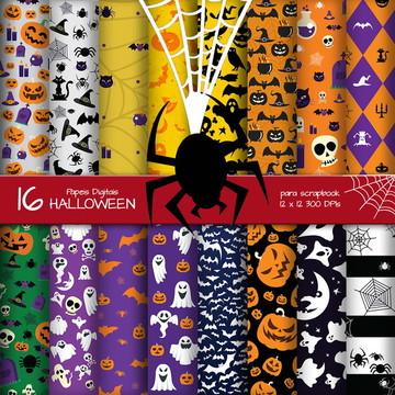 [HALLOWEEN 01] Papel Digital Halloween dia das Bruxas