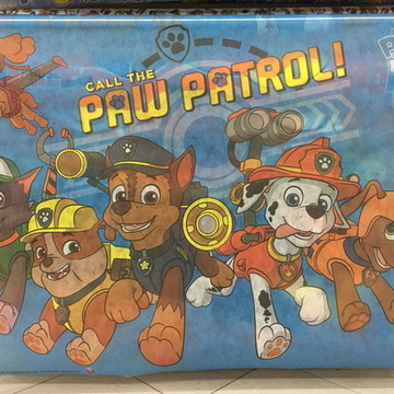 Painel ou toalha patrulha canina tnt 1 m X 1,40 m