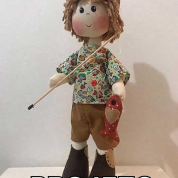 Projeto de Papel Boneco Pescador
